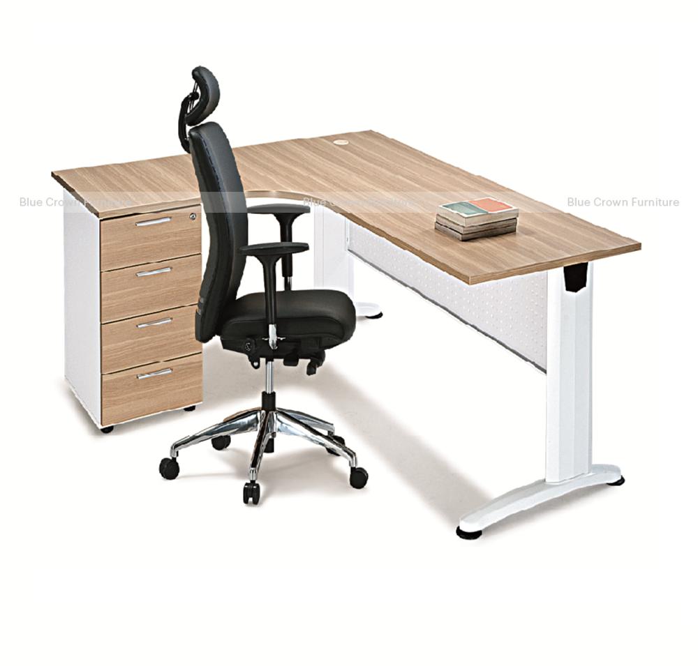Bjs Metal Curved Executive Desk 2