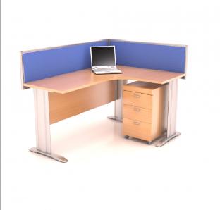 Custom made Curved Desk in BJS Leg