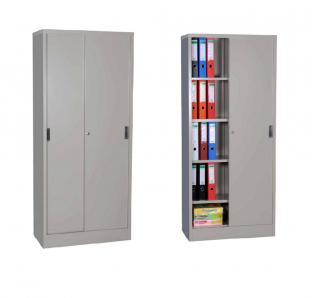 Metal Full Height Cabinet With Sliding Door