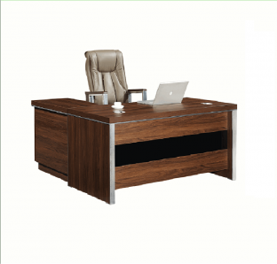 Executive Desk with side table