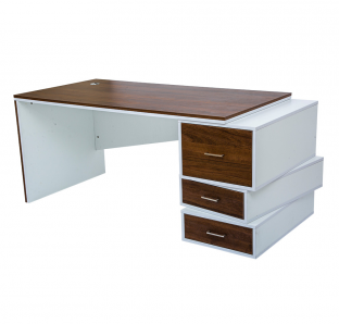 Executive Desk With Zig Zag Drawers